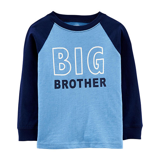 Carter's-Toddler Boys Crew Neck Long Sleeve Graphic T-Shirt