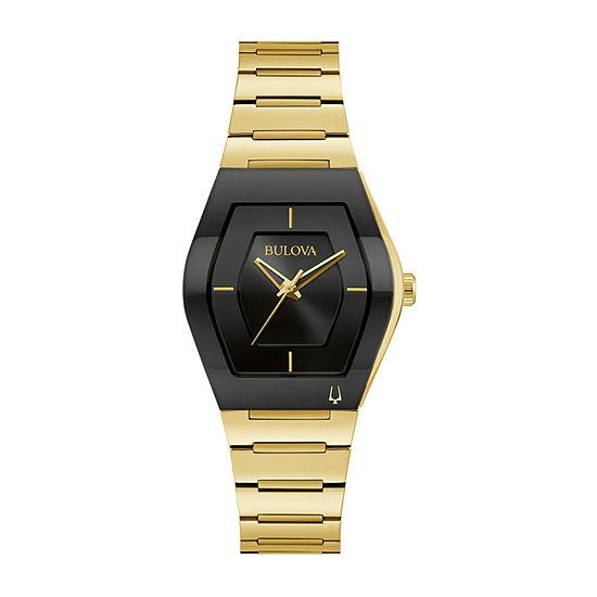 Bulova Womens Gold Tone Stainless Steel Bracelet Watch - 97l164