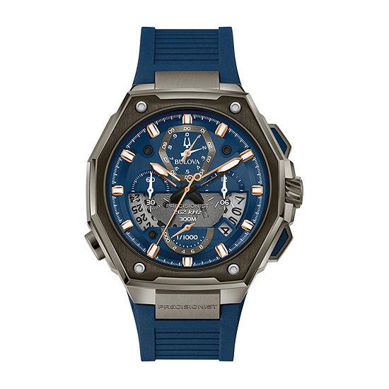 Bulova Mens Blue Strap Watch-98b357