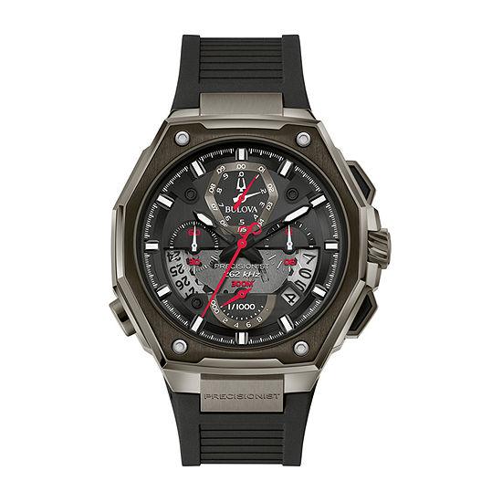 Bulova Precisionist Mens Black Strap Watch-98b358