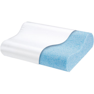 comforpedic from beautyrest cooling gel memory foam contour pillow