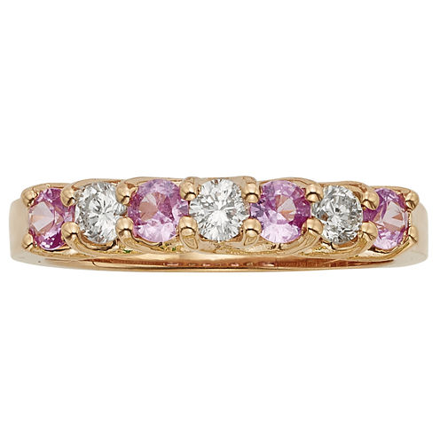 Womens 1/3 CT. T.W. Genuine Pink Sapphire 14K Gold Band