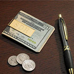 Personalized Gold Plated Money Clip