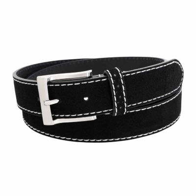 Florsheim Suede Leather Belt with Contrast Stitching
