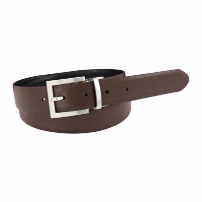 Florsheim® 30MM Reversible Leather Belt with Satin Finish Buckle