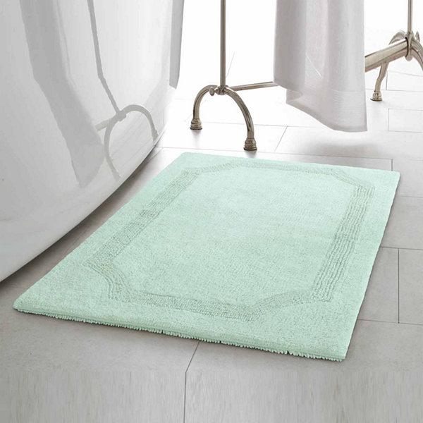Laura Ashley Cotton Reversible Bath Mat Collection