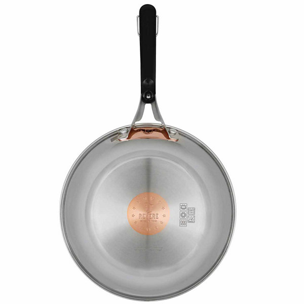 "Revere Copper Confidence Core Stainless Steel 10"" Fry Pan Open Stock"
