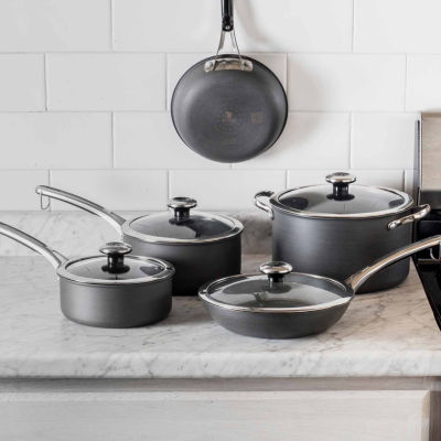 Revere Clean Pan 10-pc. Aluminum Hard Anodized Non-Stick Cookware Set