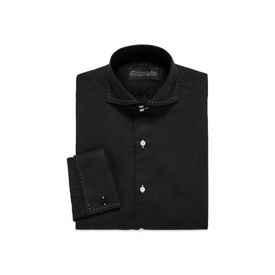 D'Amante Modern French Cuff Long-Sleeve Dress Shirt Big & Tall