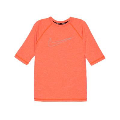 Nike Half Sleeve Logo Rash Guard-Boys 4-20