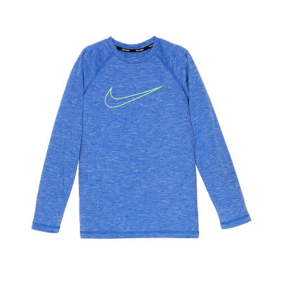 Nike Long Sleeve Logo Rash Guard-Boys 8-20