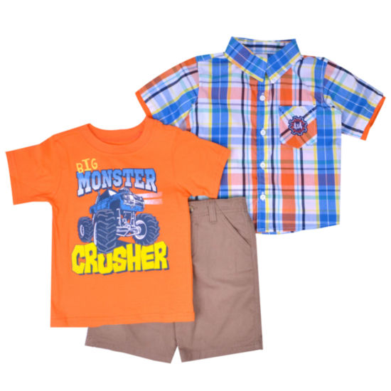 3-pc. Short Set Toddler Boys
