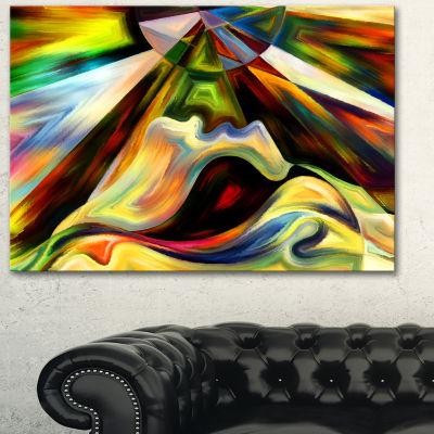 Designart Origin Of Imagination Abstract Canvas Art Print