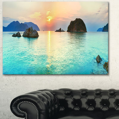 Designart Sunrise Panorama Photography Canvas ArtPrint