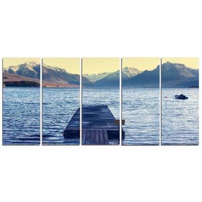 Designart Lake In Glacier National Park Seashore Canvas Print - 5 Panels
