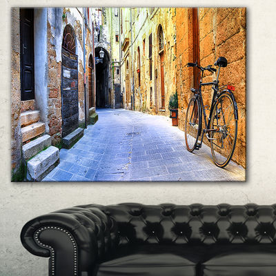 Design Art Pictorial Street Of Old Italy Cityscape Canvas Art Print