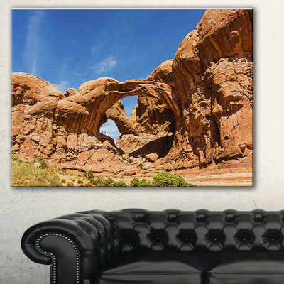 Design Art Double Arch In Arches National Park Landscape Photography Canvas Print