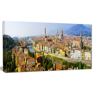 Design Art Florence Panoramic View Cityscape Photo Canvas Print