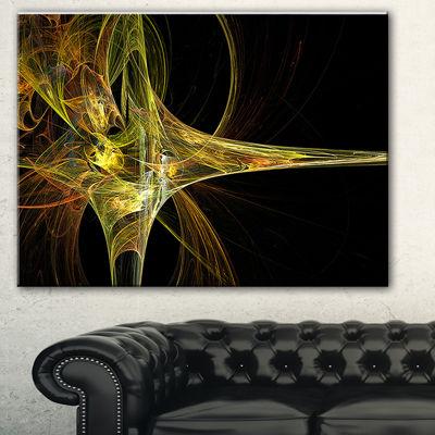 Design Art Fractal Artwork Yellow Abstract Canvas Art Print