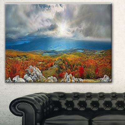 Design Art Autumn In Crimean Mountains Landscape Photography Canvas Print