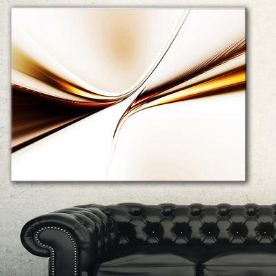 Design Art Dynamic Golden Waves Abstract Canvas Art Print
