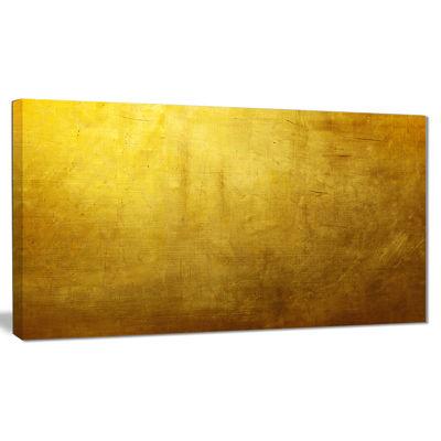 Design Art Gold Texture Abstract Canvas Art Print