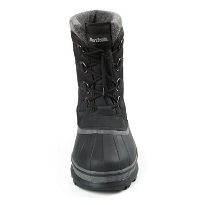 Northside Mens Back Country Waterproof Insulated Winter Boots Flat Heel Lace-up