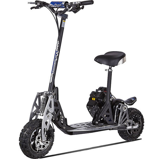 Uberscoot 2x 2-Speed 50cc Stand Up Gas Powered Scooter With Seat Scooter