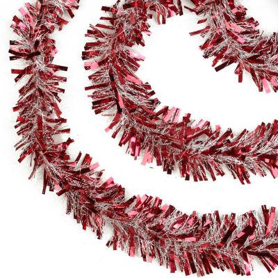 50' Festive Thick Cut Christmas Tinsel Garland - Unlit - 6 Ply