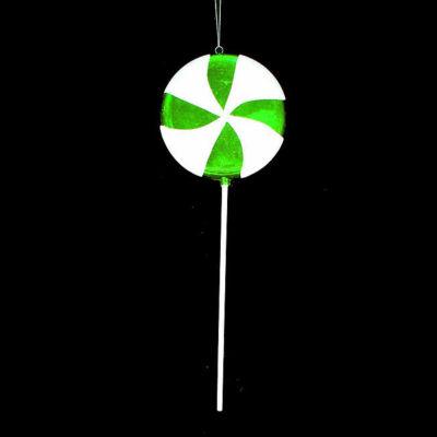 "Huge Candy Fantasy Green Apple Swirl Lollipop Christmas Ornament Decoration 40"""
