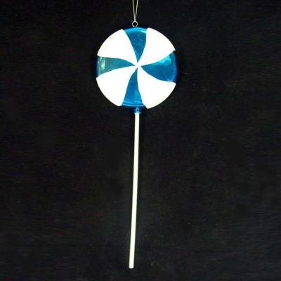 Large Candy Fantasy Blue Cotton Candy Lollipop Christmas Ornament Decoration 22""