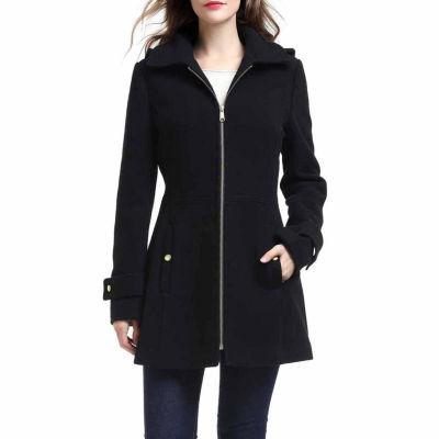 BGSD Women's Lina Plush Wool Blend Coat