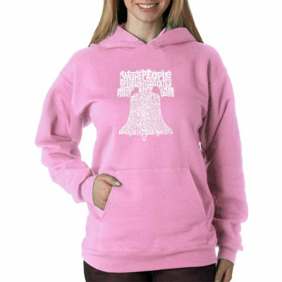 Los Angeles Pop Art Women's Hooded Sweatshirt -Liberty Bell