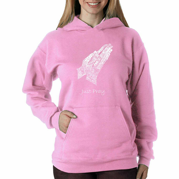 Los Angeles Pop Art Women's Hooded Sweatshirt -Prayer Hands