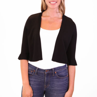 Nina Leonard Bell Sleeve Knit Bolero