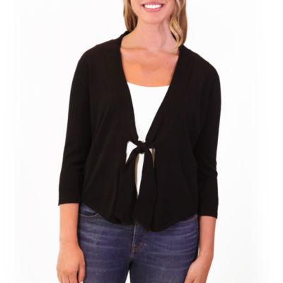 Nina Leonard 3/4 Sleeve Classic Knit Bolero