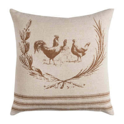 Rizzy Home Kevin Rooster Decorative Pillow