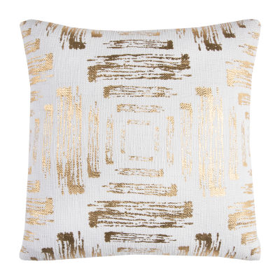 Rizzy Home Hyle Textured Foil Print Abstract Decorative Pillow