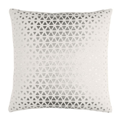 Rizzy Home Juan Textured Foil Diamond Decorative Pillow
