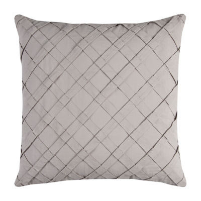Rizzy Home Cole Pleated Cross Diagonal Decorative Pillow
