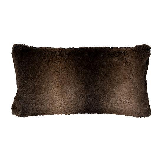 Rizzy Home Elijah Solid Fur Decorative Pillow