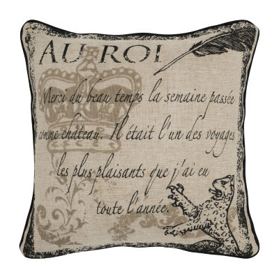 Rizzy Home Miguel Script Decorative Pillow