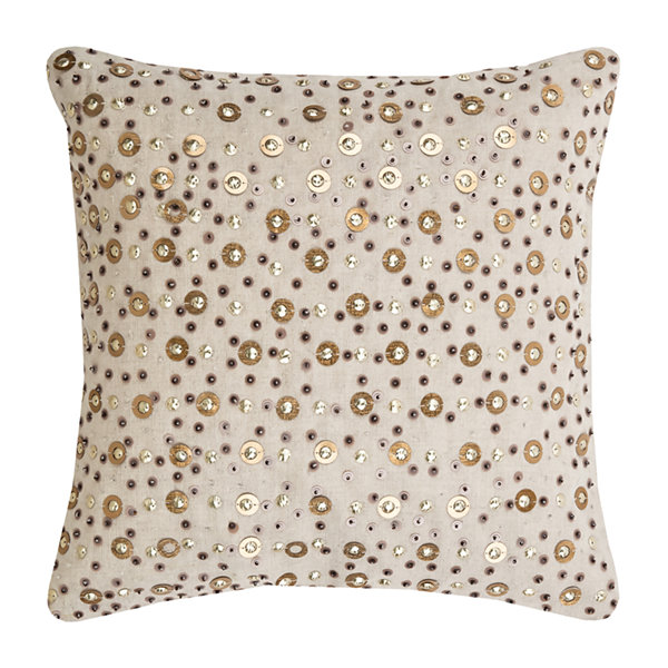 Rizzy Home Ashlyn All Over Beaded And Sequined Decorative Pillow