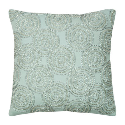Rizzy Home Mia Circular Geometric  Decorative Pillow