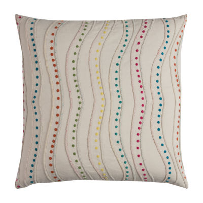Rizzy Home Lina Dotted Swirl Decorative Pillow