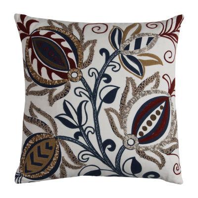 Rizzy Home Gabriel Floral Pattern Decorative Pillow