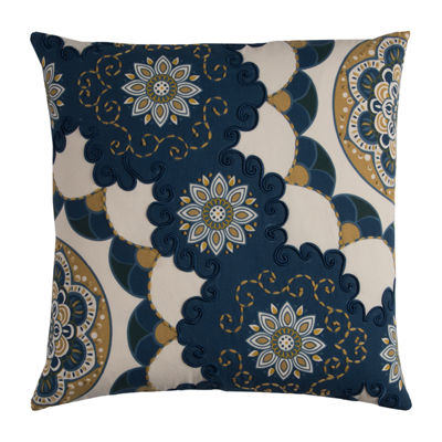 Rizzy Home Amine Floral Pattern Decorative Pillow