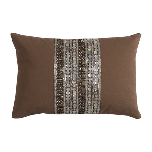 Rizzy Home Staton Multi Stripe Beads In Center Decorative Pillow