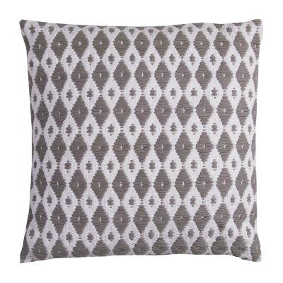 Rizzy Home Gracia Diamond Pattern Decorative Pillow