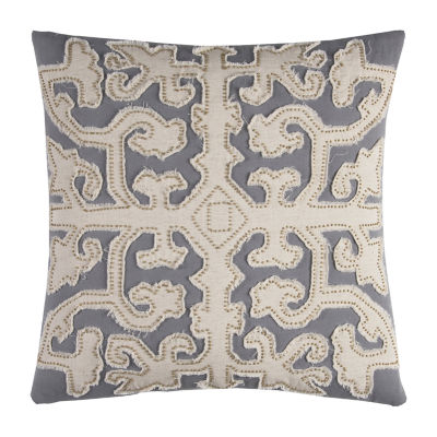 Rizzy Home Ellis Scroll Work Decorative Pillow